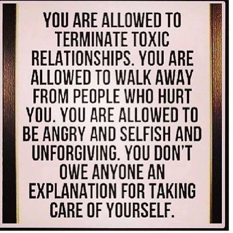 Eliminating toxic relationships