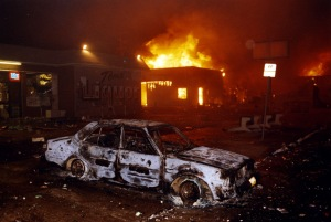 No this is not a scene from Baltimore this week; it is Los Angeles in 1992/